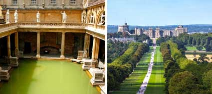 Bath and Windsor cruise transfer Southampton