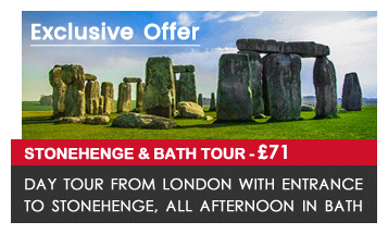 The Roman Baths at Bath and Stonehenge day tour from London