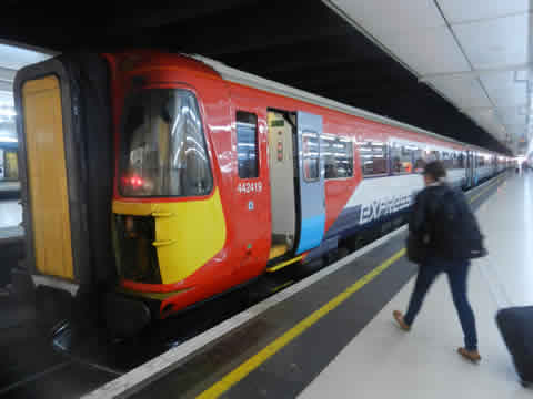 Gatwick Express Train At London Victoria Station