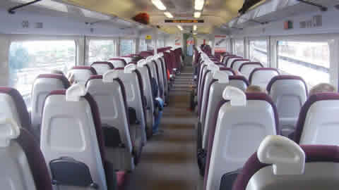 Gatwick Express Train Interiot