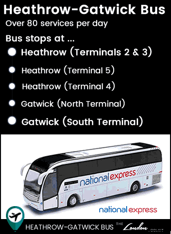 Heathrow - Gatwick Bus Route Map