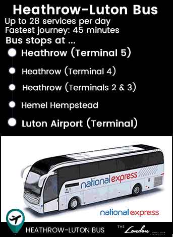 Heathrow - Luton Bus Route Map
