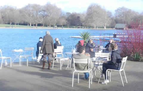Outdoor Cafe By Serpentine Lake in Hyde Park