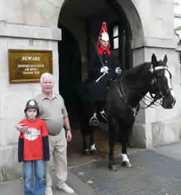 Harry Norman (Driver/Guide For Car Tours)and Friend At Horseguards London