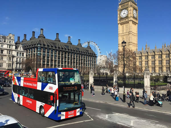 Original London Tour Open Top Sightseeing Bus