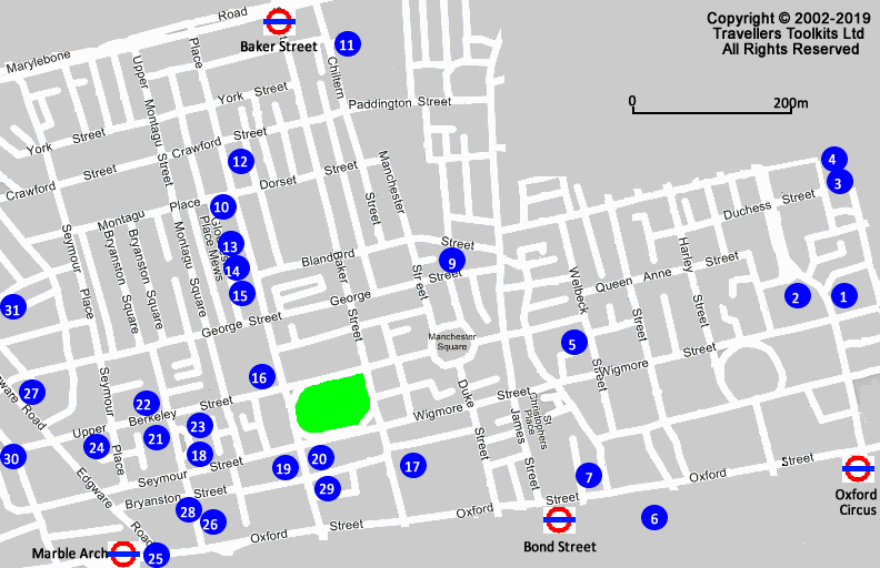 Oxford Street Marble Arch London Hotel Street Map