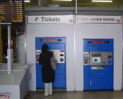 Paddington Station London Ticket Collection Machine