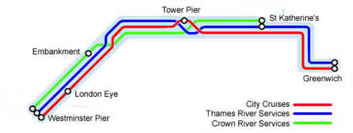 Central London River Services Map