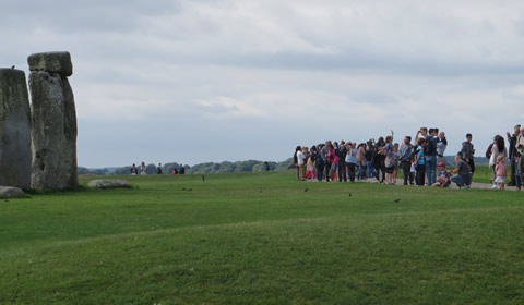 How close to the stones you can get at Stonehenge during public opening hours