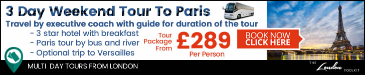 Weekend 3 Day Short Break By Coach To Paris Tour Ticketing