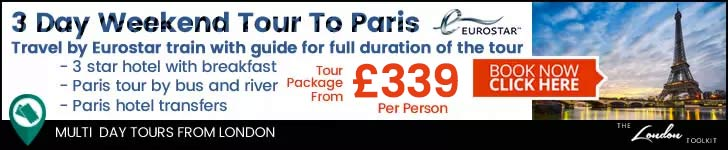 Weekend 3 Day Short Break By Eurostar Train To Paris Tour Ticketing