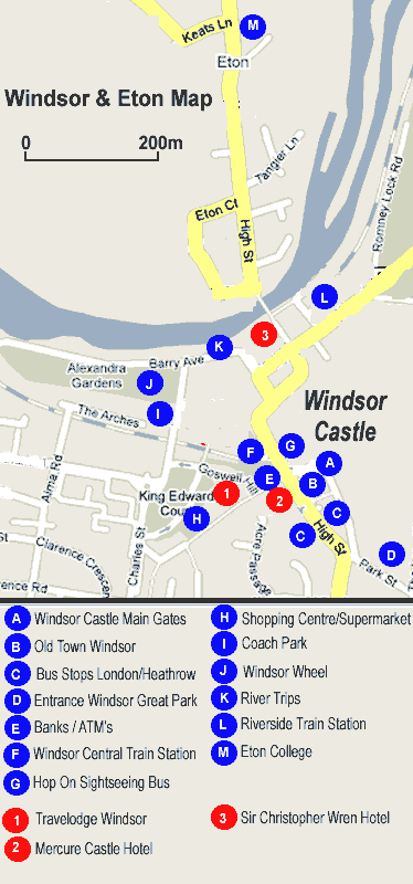 Map Of Windsor & Eton