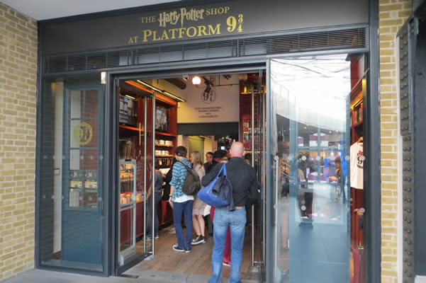 Harry Potter Shop at Kings Cross Station