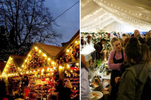 Pear Tree Café Christmas market in Battersea Park, London