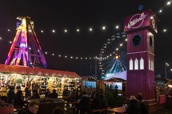 Winterville market in Clapham Common