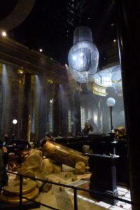 Gringotts Wizarding Bank destroyed by dragon at Warner Bros Studio Tour London - The Making of Harry Potter