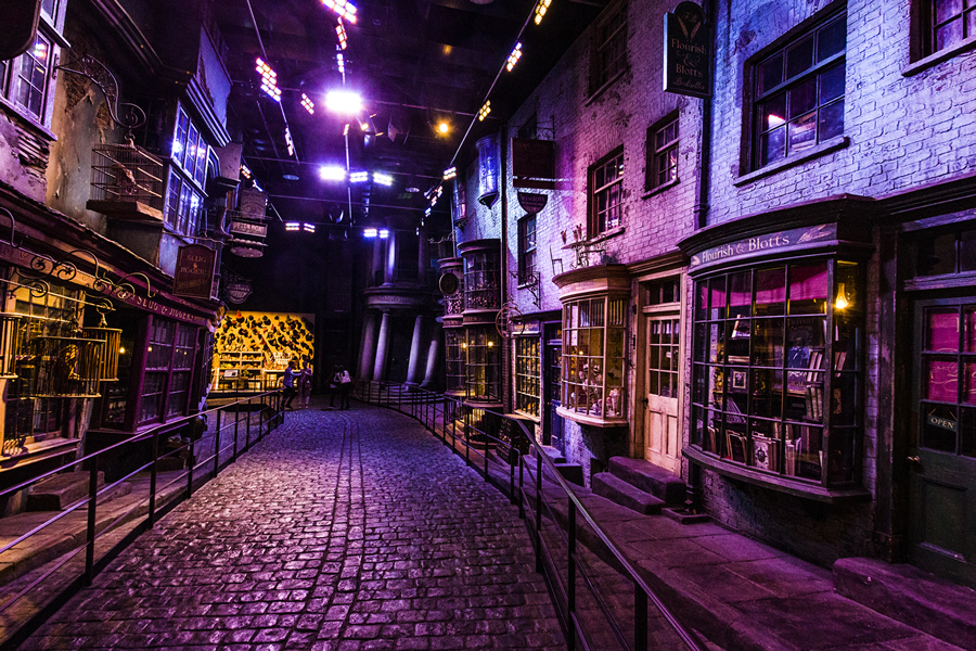 Diagon Alley at Warner Bros Studio Tour London - The Making of Harry Potter