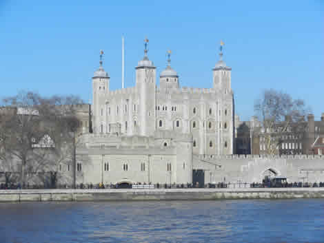Tower Of London From The River Thames London