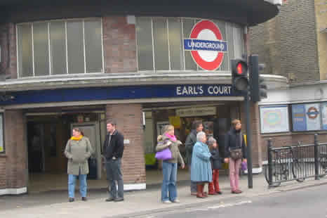 Earls Court Kensington Underground Station London