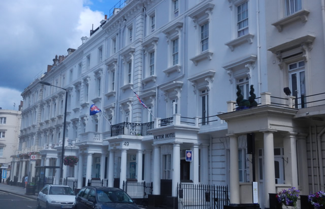 Row of Cheap Bed & Breakfast Hotels Belgrave Road London Victoria