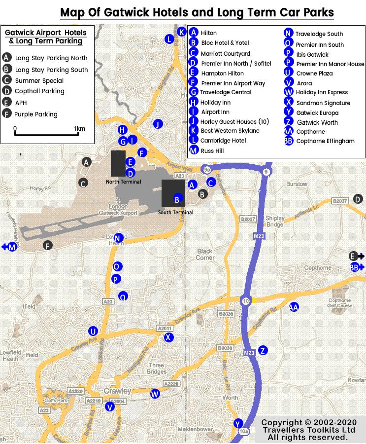 Mapa Aeropuerto De Gatwick Londres