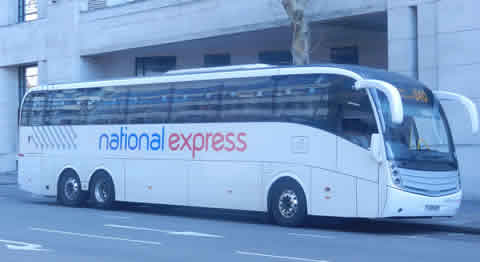 National Express Gatwick Bus At London Victoria
