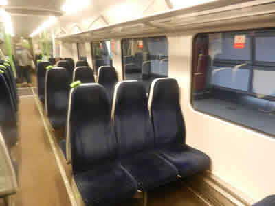 Interior of Heathrow Connect Train