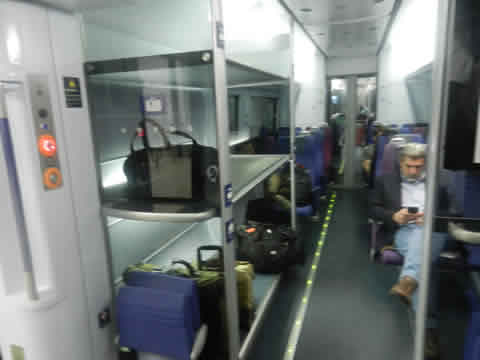 Heathrow Express Interior of Carriage