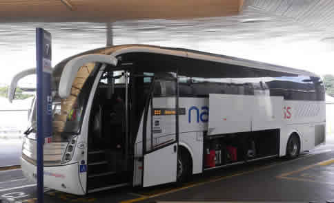 National Express Bus At Heathrow  Coach Station