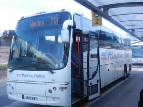 Heathrow to Woking RailAir Link Bus