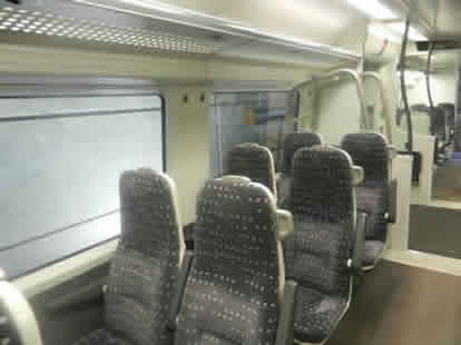 Stansted Express Train Interior